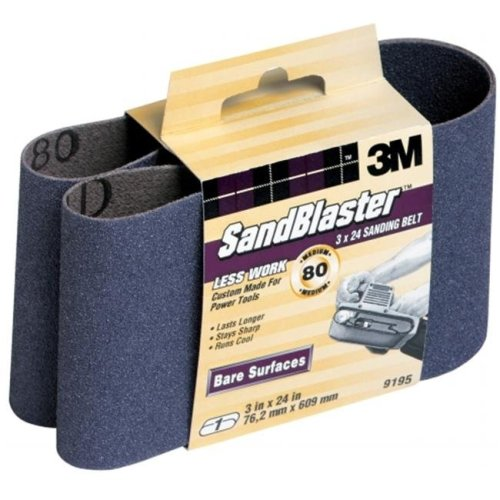 3m 3in. X 24in. 80 Grit SandBlaster Purple Sanding Belts 9195NA