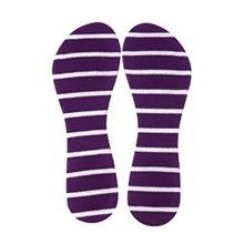 2 Pieces of Sponge High Heels Insoles To Prevent Heel Pain, Purple Stripe