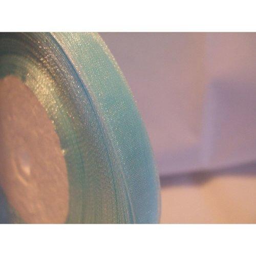 Organza Ribbon Roll - 10mm x 50 Yards (45 Metres) - Sky Blue
