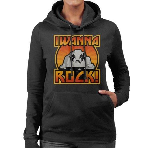 I Wanna Rock Women's Hooded Sweatshirt