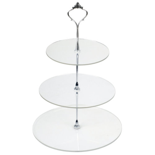 Trixes 3 Tier Clear Circular Cake Stand | Baking & Display Stand