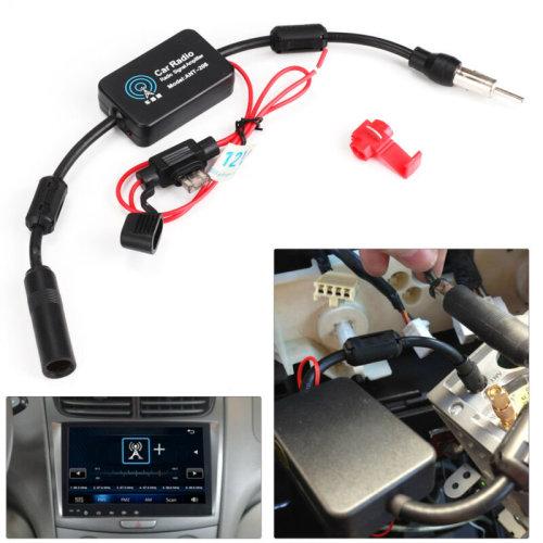 12V Auto Car Truck Antenna Aerial Radio FM AM Signal Amp Amplifier Booster UK