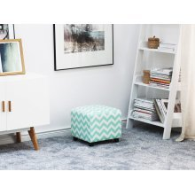 Footstool Mint Green and White KANSAS