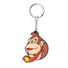 NINTENDO SUPER MARIO BROS. Rubber Character Keychain, Donkey Kong (KE060908NTN)