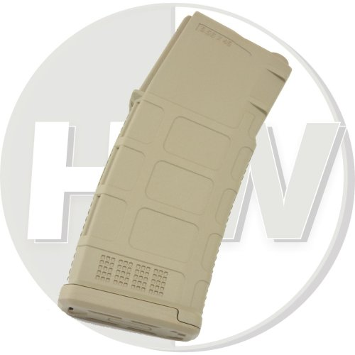 Airsoft Single Pts Beta Project Pmag X1 M Series Mid Cap Magazine Dark Earth 140Rds