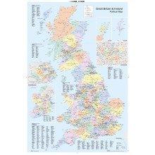 Uk Map Political Maxi Poster