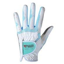Classic Simple Design Women Golf Gloves Non-slip Sport Gloves(White&Blue) #21