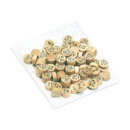 JEUJURA JeujuraJ8988 Wooden Bingo Chips (90-Piece)