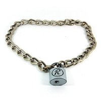 "Sid Vicious ""R"" Padlock Necklace"