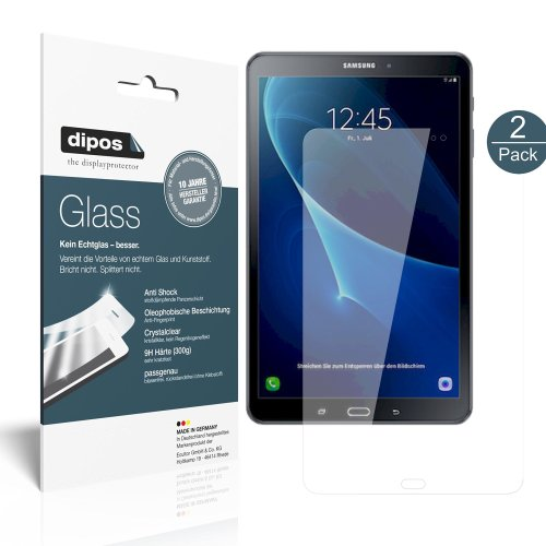 dipos I 2x Screen Protector for Samsung Galaxy Tab A 10.1 (2016) Flexible Glass 9H Display Protection