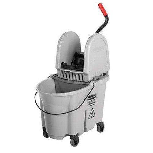 35 qt Executive Wave Brake Down-Press Mop Bucket, Gray
