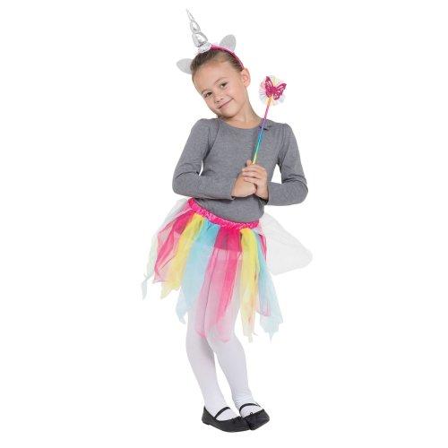 Rainbow Unicorn Tutu/Hband + Wand set