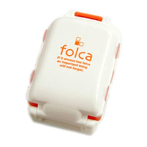 8 Solt Multi-Functional Portable Pill Box Color Orange, Home Travel Necessary