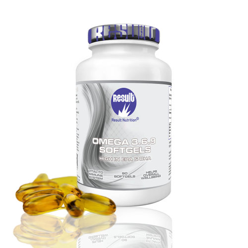 Omega 3 6 9 Softgels - High in EPA and DHA - Result Nutrition®