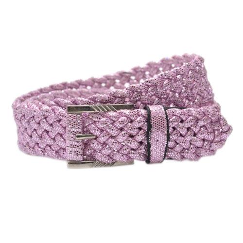 Women Fashion  Wave Belt Dress Decorative Belt Paillette Belt [PINK]
