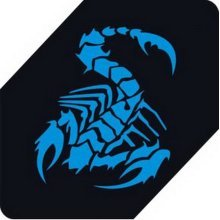 "Scorpion Car Decals Car Sticker Cool Stickers Car Window Sticker BLUE (5.9"")"