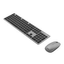 Asus W5000 Wireless Keyboard and Mouse Desktop Kit, Multimedia, Low Profile, 1600 DPI, Grey