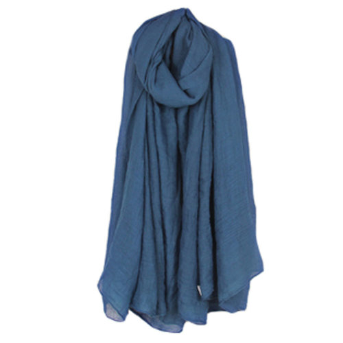 Womens Fashion Solid Scarves Comfortable Scarf Shawl Wrap Neck Wear, Denim Blue