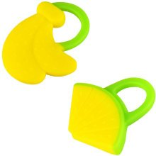Newborn Infant Training Soft Teeting Toddler Relieving Teether BANANA&WATERMELON