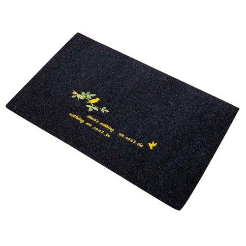 2 PCS Door Mats Living Room/Bathroom/Kitchen Foot Pad Non-slip Mat-Black 3