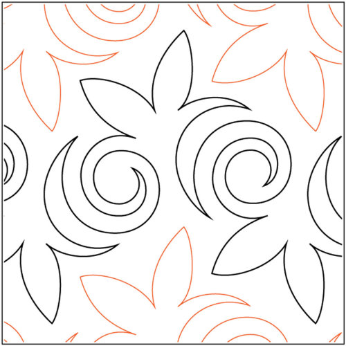 "Sten Source Quilt Stencils By Sarah Ann Myers-Asian Maple 9"""