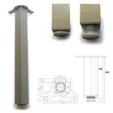 2 x 820mm Aluminium Breakfast Bar Worktop Support Table Leg Square 65mm Diameter