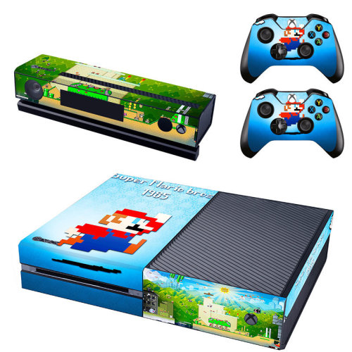 Xbox One Console Decal Skin Super Mario Bros + 2x Controller Pad Stickers Cover