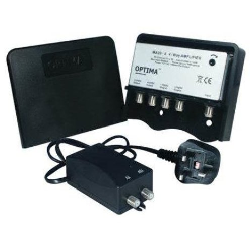 Optima MA20-4KIT 4 Way Variable Gain Masthead TV Signal Amplier