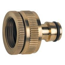 "Made of Brass Universal Multi-purpose Garden Tap Connector Female 1/2"" or 3/4"""