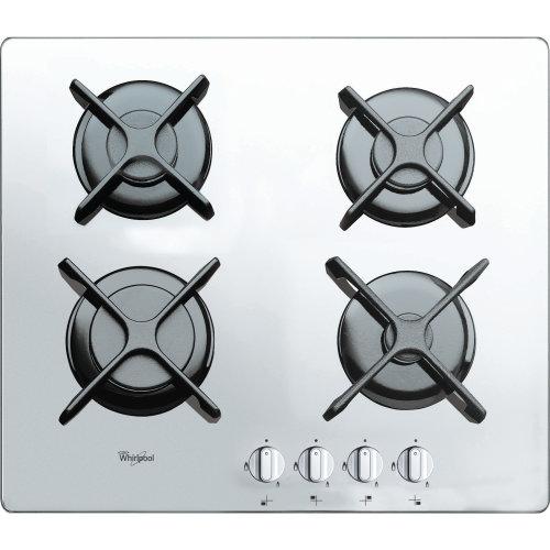 White Ceramic Glass 4 Burner Gas Hob WHIRLPOOL AKT 6400 WH