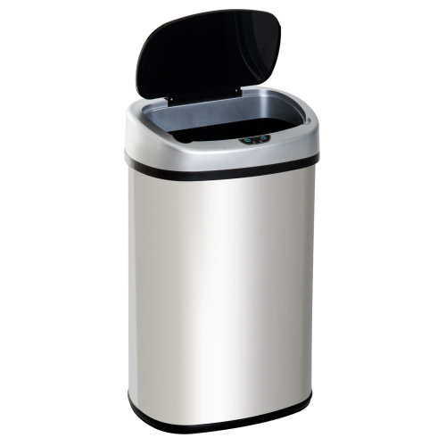 HOMCOM Stainless Steel Sensor Dustbin Automatic Touchless Trashcan Rubbish Garbage Waste Bin 58L