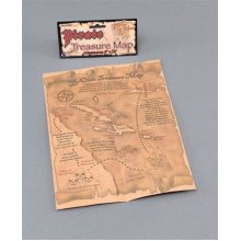 Distressed Pirate Treasure Map - Fancy Dress Party Prop Accessory Bag Toy -  pirate fancy dress map treasure party prop accessory bag toy costume