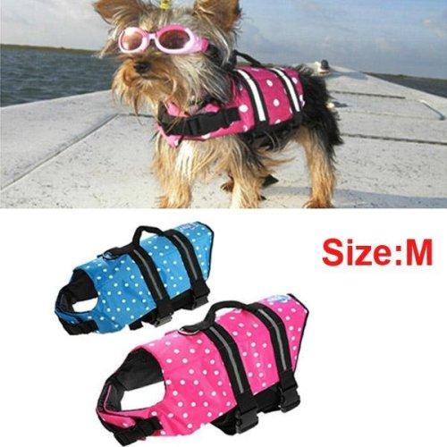 Safety Float Waterproof Adjustable Pet Dog Cat Life Jacket Size M
