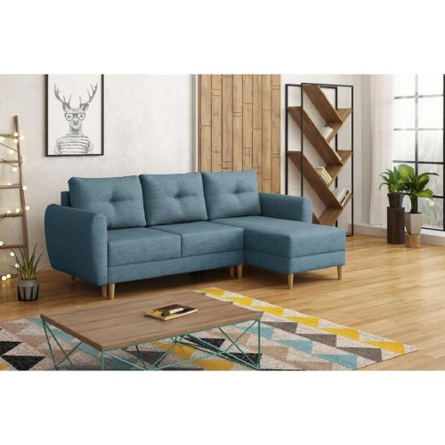 Corner Sofa Bed Retro, Storage, Sawana Fabric