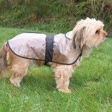 Trixie Tarbes Dog Raincoat, 46 Cm, Transparent/black Bordered - Coat Rain -  trixie dog tarbes coat rain clothes sizes