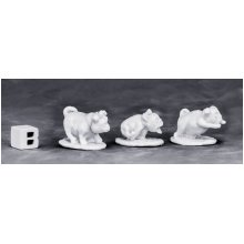 Dark Heaven Bones War Pugs (3pcs) fantasy miniatures by Reaper Miniatures RPOR77573