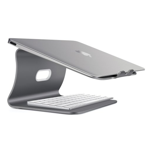 Spinido Aluminum Laptop Desktop Stand for Apple Macbook and All Notebooks, Grey