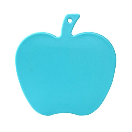 Creative Apple Shaped Health Baby Cutting Board Flexible Chopping Board BLUE