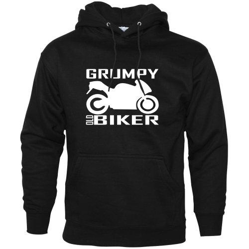 Grumpy Old Biker Hoodie Motorbike Accessories
