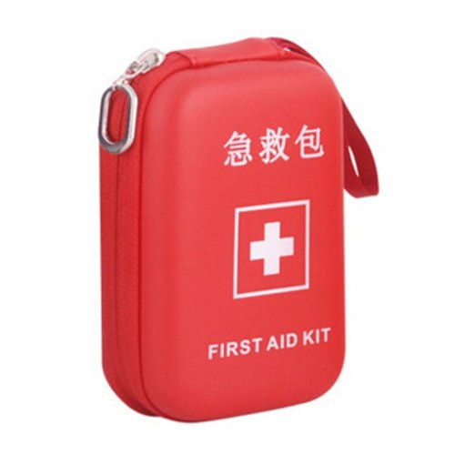Portable First Aid Kit Travel Medical Box for Camping, Hiking-Red