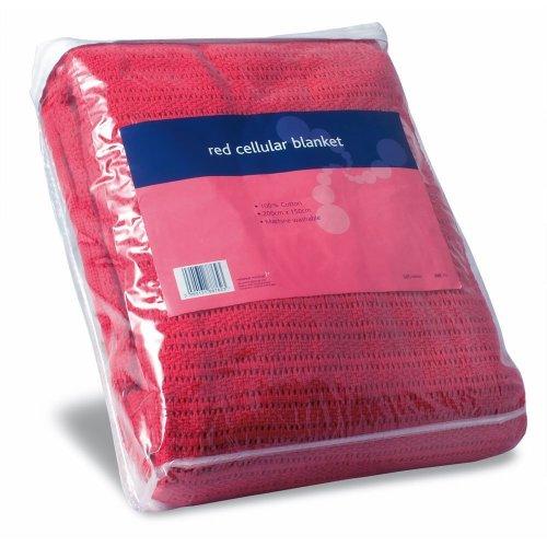 Reliance REL762 Cellular Blanket, Red