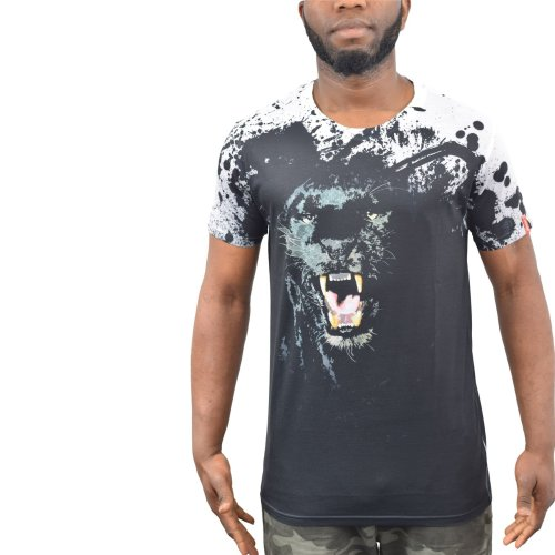 Mens t-shirt juice panther sublimated longline top