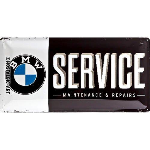 Nostalgic Art Tin Sign with Retro BMW Service - 25 x 50 CM