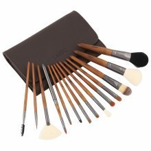 LaRoc 15pc Wood Handled Brush Set with Case