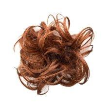 Elegant Soft Human Hair Bun Extension Hairband For Ladies, Deep Brown