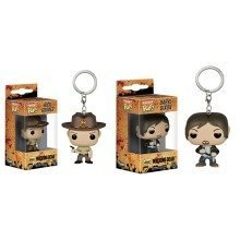 Walking Dead Daryl Dixon and Rick Grimes Figure Keyrings