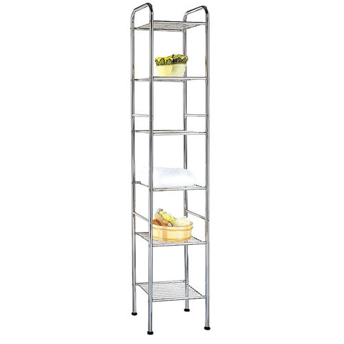 ATHENA - Six Tier Metal Storage / Display Shelves - Silver