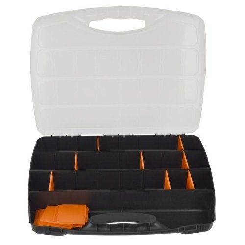 Large Divided Compartment Organiser Work Plastic Case Box Holder Storage CN03