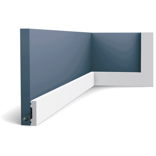 Orac Decor SX162F AXXENT SQUARE Skirting flexible baseboard moulding 2 m