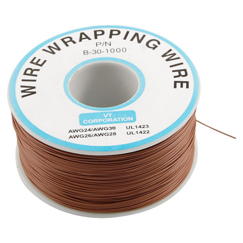 1000Ft Circuit Board JTAG Tin-Plated Copper Wire 0.25mm 30AWG Brown